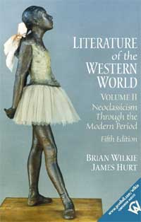 "Dust jacket for ""Literature of the Western World Volume II"" (via Prentice Hall)"